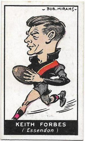 1933 Carreras (40) Kieth Forbes Essendon