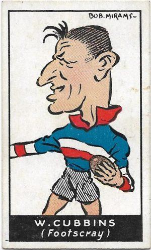 1933 Carreras (42) Bill Cubbins Footscray
