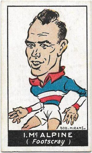1933 Carreras (43) Ivan McAlpine Footscray