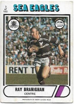 1976 Scanlens Rugby League (3) Ray Branighan Sea Eagles