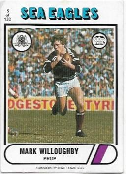 1976 Scanlens Rugby League (5) Mark Willoughby Sea Eagles