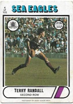 1976 Scanlens Rugby League (6) Terry Randall Sea Eagles