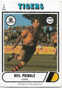 1976 Scanlens Rugby League (8) Neil Pringle Tigers