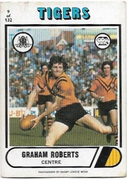 1976 Scanlens Rugby League (9) Graham Roberts Tigers