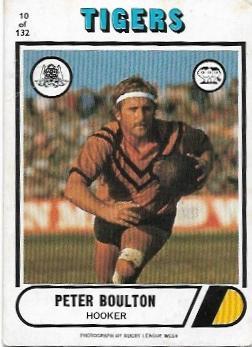 1976 Scanlens Rugby League (10) Peter Boulton Tigers