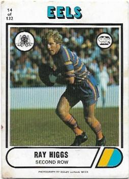 1976 Scanlens Rugby League (14) Ray Higgs Eels