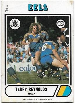 1976 Scanlens Rugby League (15) Terry Reynolds Eels