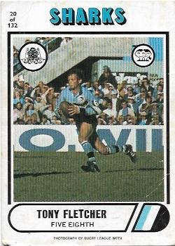 1976 Scanlens Rugby League (20) Tony Fletcher Sharks