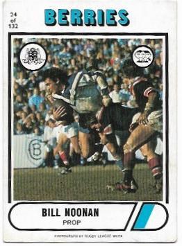 1976 Scanlens Rugby League (24) Bill Noonan Berries