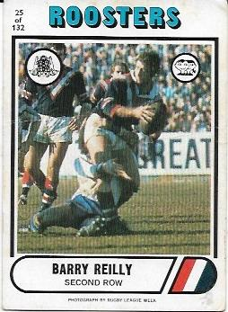 1976 Scanlens Rugby League (25) Barry Reilly Roosters