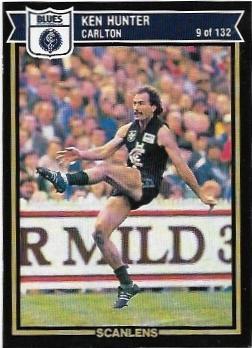 1987 Scanlens (9) Ken Hunter Carlton – Near Mint