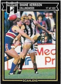 1987 Scanlens (17) Shane Kerrison Collingwood – Near Mint