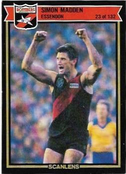 1987 Scanlens (23) Simon Madden Essenond – Near Mint