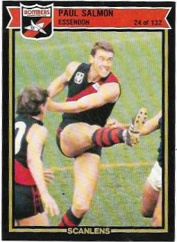 1987 Scanlens (24) Paul Salmon Essenond – Near Mint
