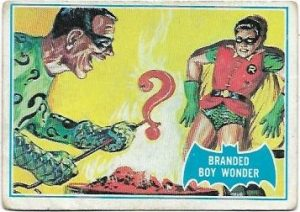 1966 Batman Blue Bat (4B) Branded Boy Wonder (Blue Bat Back)