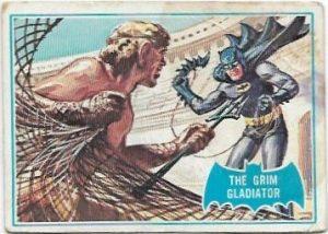 1966 Batman Blue Bat (7B) The Grim Gladiator (Blue Bat Back)