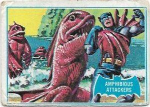 1966 Batman Blue Bat (10B) Amphibious Attackers (Blue Bat Back)