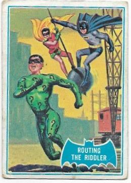 1966 Batman Blue Bat (22B) Routing The Riddler (Blue Bat Back)