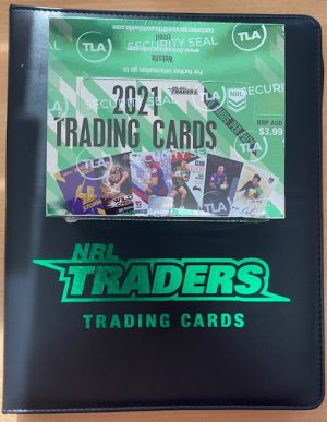 2021 NRL Traders Factory Sealed Box & Generic Album With Plastic Pockets