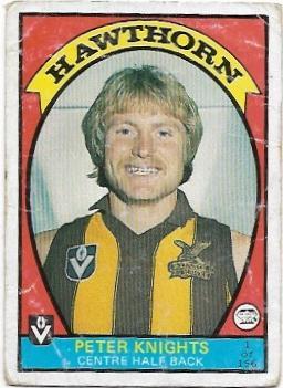 1978 VFL Scanlens (1) Peter Knights Hawthorn