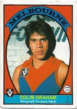 1978 VFL Scanlens (4) Colin Graham Melbourne