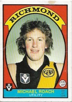 1978 VFL Scanlens (10) Michael Roach Richmond