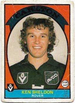 1978 VFL Scanlens (14) Ken Sheldon Carlton