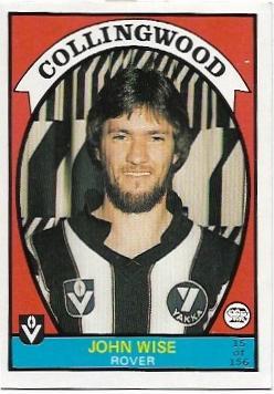 1978 VFL Scanlens (15) John Wise Collingwood