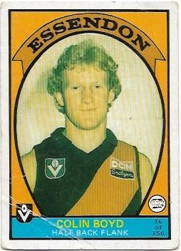 1978 VFL Scanlens (16) Colin Boyd Essendon