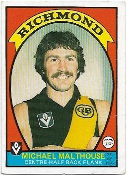 1978 VFL Scanlens (25) Michael Malthouse Richmond