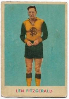1963 VFL Scanlens (14) Len Fitzgerald Collingwood