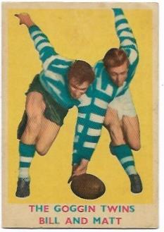 1963 VFL Scanlens (15) The Goggin Twins (Bill & Matt) Geelong