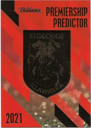 2021 Nrl Traders Premiership Predictor (PP13) DRAGONS 091/230