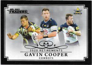2021 Nrl Traders Retirement Parallel Case Card (RP08) Gavin Cooper Cowboys 23/55