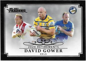 2021 Nrl Traders Retirement Parallel Case Card (RP09) David GOWERS Eels 25/55