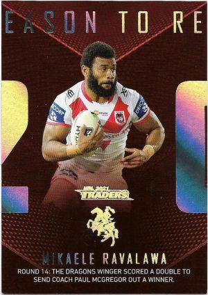 2021 Nrl Traders Season To Remember (SR38) Mikaele RAVALAWA Dragons