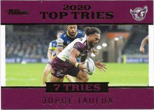2021 Nrl Traders Top Tries (TT06) Jorge TAUFUA Sea Eagles 039/115