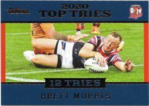 2021 Nrl Traders Top Tries (TT14) Brett MORRIS Roosters 093/115