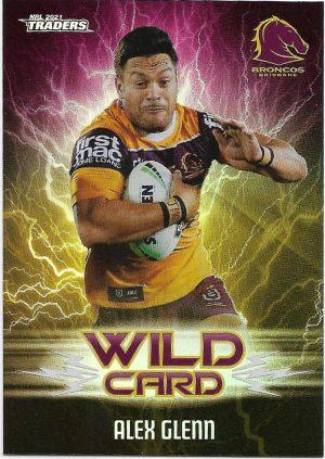 2021 Nrl Traders Wildcards (WC01) Alex GLENN Broncos