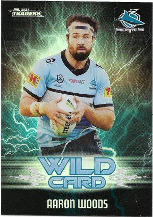 2021 Nrl Traders Wildcards (WC12) Aaron WOODS Sharks