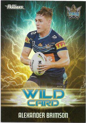 2021 Nrl Traders Wildcards (WC13) Alexander BRIMSON Titans