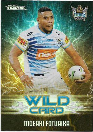2021 Nrl Traders Wildcards (WC14) Moeaki FOTUAIKA Titans