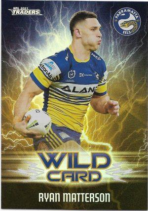 2021 Nrl Traders Wildcards (WC29) Ryan MATTERSON Eels