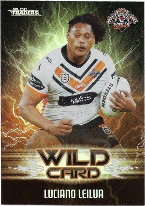2021 Nrl Traders Wildcards (WC47) Luciano LEILUA Wests Tigers