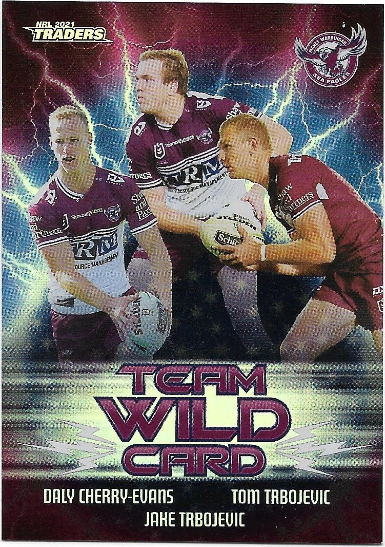 2021 Nrl Traders Team Wild Card (WCG06) SEA EAGLES - APT Collectables