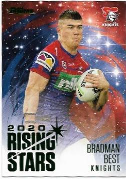 2021 Nrl Traders Album Parallel Rising Stars (RSP08) Bradman Best Knights