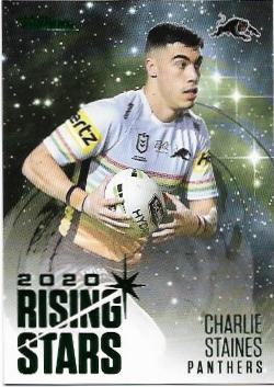 2021 Nrl Traders Album Parallel Rising Stars (RSP11) Charlie STAINES Panthers