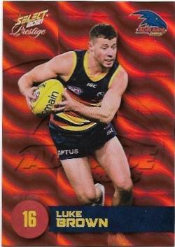 2021 Select Footy Prestige Parallel Orange (2) Luke BROWN Adelaide 177/210