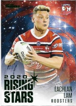 2021 Nrl Traders Album Parallel Rising Stars (RSP14) Lachlan Lam Roosters
