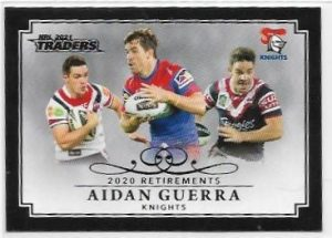 2021 Nrl Traders Retirement Parallel Case Card (RP07) Aidan GUERRA Knights 34/55